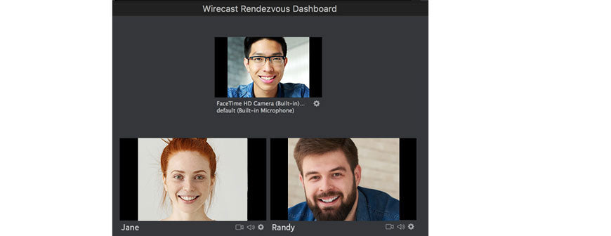 wirecast Rendezvous dashboard