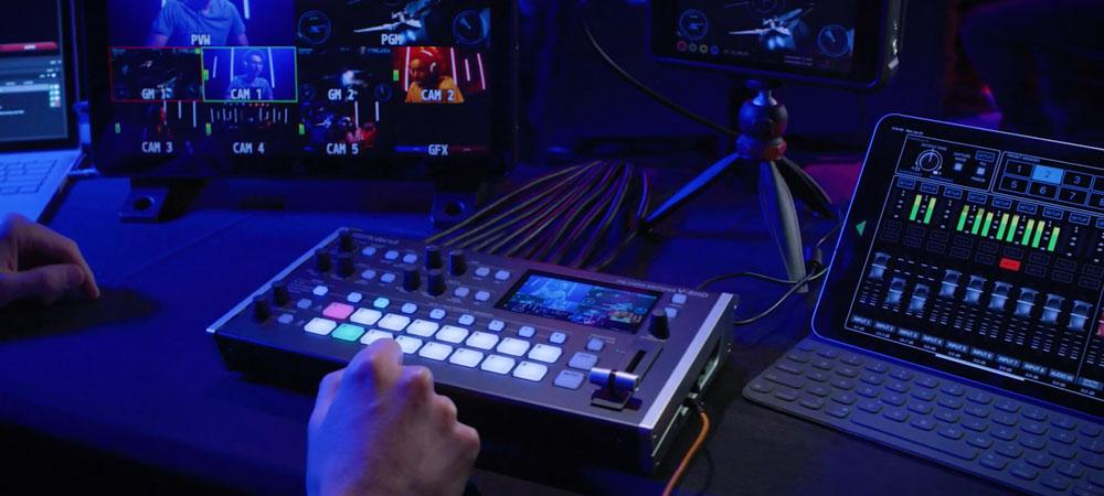 Roland V-8HD action shot