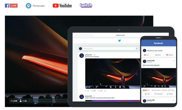 Vimeo Live streaming social media networks