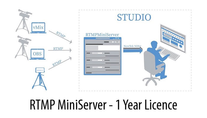 RTMP Miniserver 1 Year Licence
