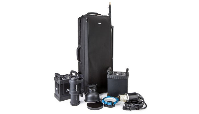 Think Tank Production Manager 40 Rolling Case Hero Shot with Accessories