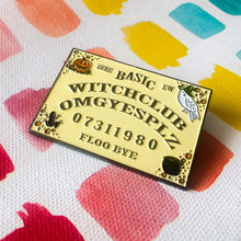 Basic Witch Club OUIJA BOARD enamel PIN :: by BUNCEandBEAN