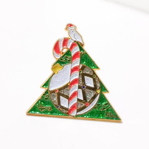 Christmas Deathly Hallows enamel lapel PIN / by BUNCEandBEAN