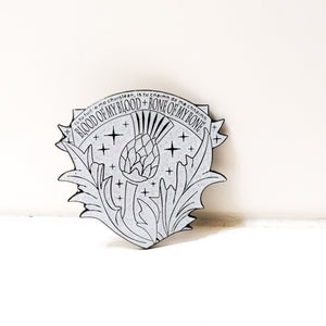 Outlander GAELIC VOWS CREST Blood of my Blood enamel PIN :: by BUNCEandBEAN