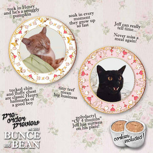 Jeff & Henry Fan Club Commemorative Cat Plates