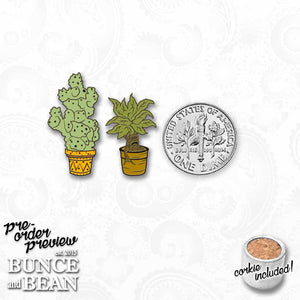 mini MAGICAL PLANTS enamel PIN :: by BUNCEandBEAN