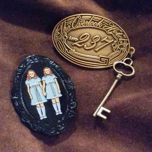 The Shining GRADY GIRLS twins enamel PIN :: by BUNCEandBEAN