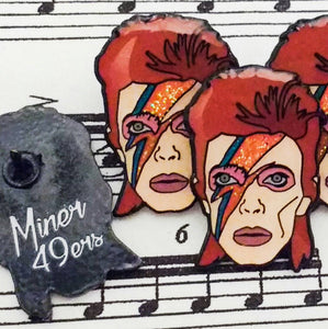 DAVID BOWIE enamel PIN (Aladdin Sane) :: by BUNCEandBEAN