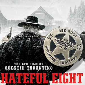 RED ROCK SHERIFF badge Hateful Eight 8 PIN / by BUNCEandBEAN