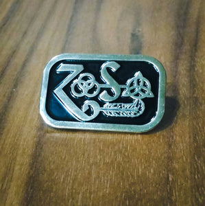 LED ZEPPELIN Zoso enamel lapel PIN :: by BUNCEandBEAN