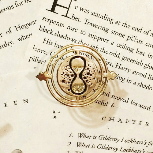 TIME TURNER enamel glitter PIN / by BUNCEandBEAN