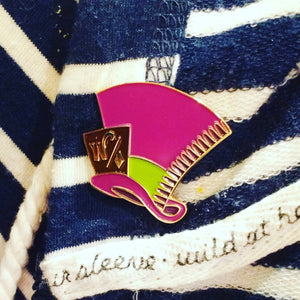 Willy Wonka MAD HATTER enamel PIN / by BUNCEandBEAN