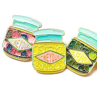 SHERBET LEMON DROPS enamel PIN :: by BUNCEandBEAN