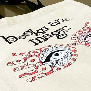 Books Are Magic Spectacles Tote Bag