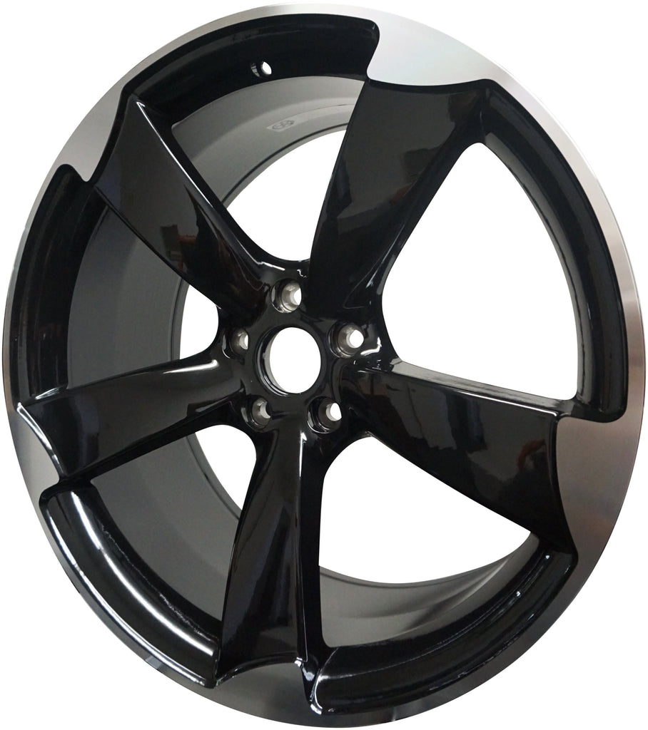 18 Inch Audi Rims A3 A4 A5 A6 A7 A8 S3 S4 S5 S6 S7 S8 RS5 RS6 RS7 Black Machined Tips Wheels