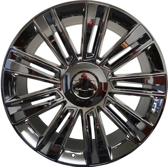 "26"" CADILLAC FULLY CHROME RIMS FITS ESCALADE EXT ESV BRAND NEW"