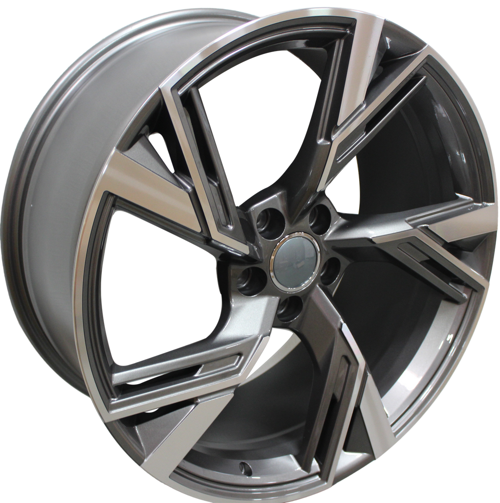 20 Inch Audi RS Style Rims Gunmetal Machined Wheels