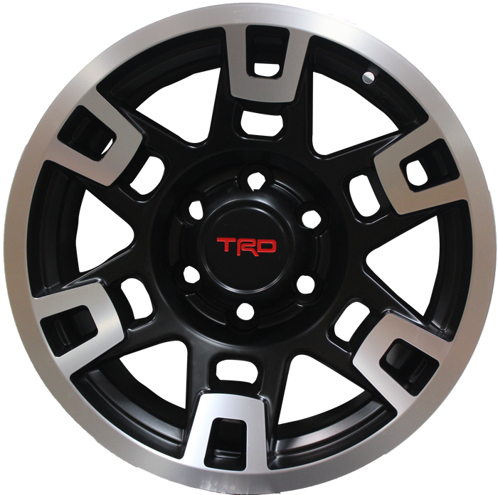 17 Inch Toyota TRD PRO Style Rims Fit 4Runner FJ Cruiser Tacoma SEMA Machined Wheels