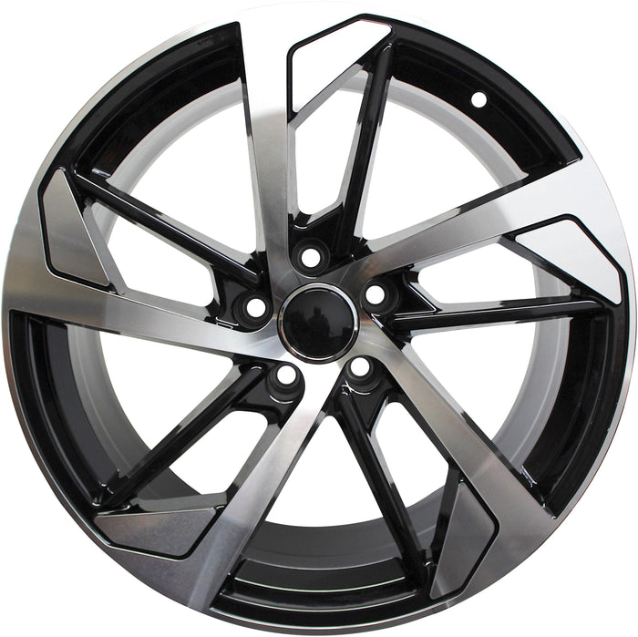 19 Inch Audi Rims A4 A5 A6 A7 A8 S4 S5 S6 S7 S8 RS5 RS6 RS7 Black Machined Wheels