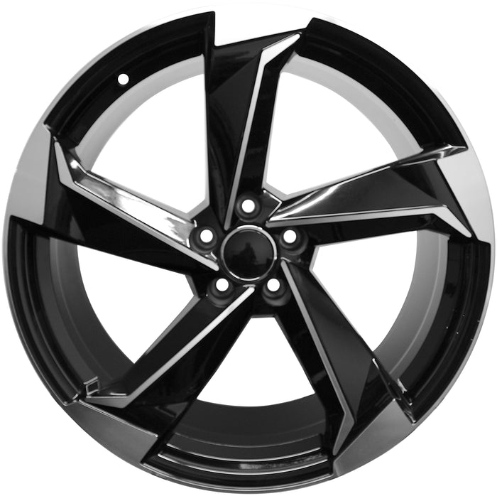 20 Inch Audi Rims A4 A5 A6 A7 A8 S4 S5 S6 S7 S8 RS5 RS6 RS7 Black Machined Wheels