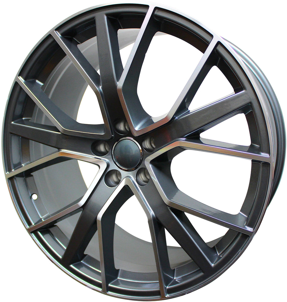 20 Inch Wheels Audi S Line  Q5 Q6 Q7 S4 S5 S6 A4 A5 A6 A7 Gunmetal Machined Rims S8 Style