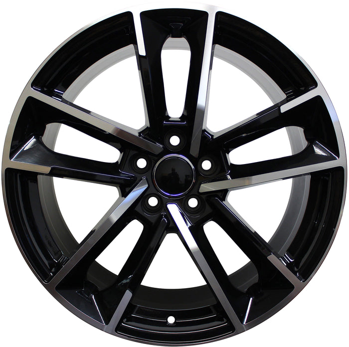 19 Inch Wheels Audi S Line Q2 Q3 Q5 S4 S5 S6 A4 A5 A6 A7 Black Machined Rims S5 Style