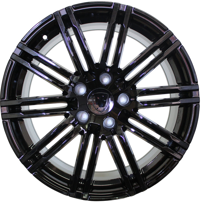 20 Inch Rims Fits Porsche Cayenne Turbo S GTS Base 2019 Gloss Black Wheels - Elite Custom Rims