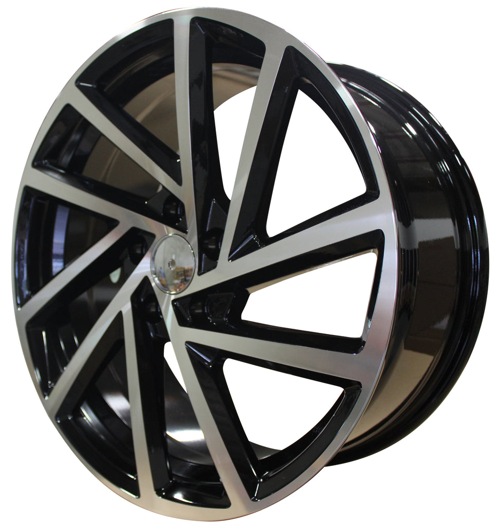 18 Inch Rims Fits Volkswagen VW Golf GTI Jetta Passat 5X112 R32 Detroit Wheels - Elite Custom Rims