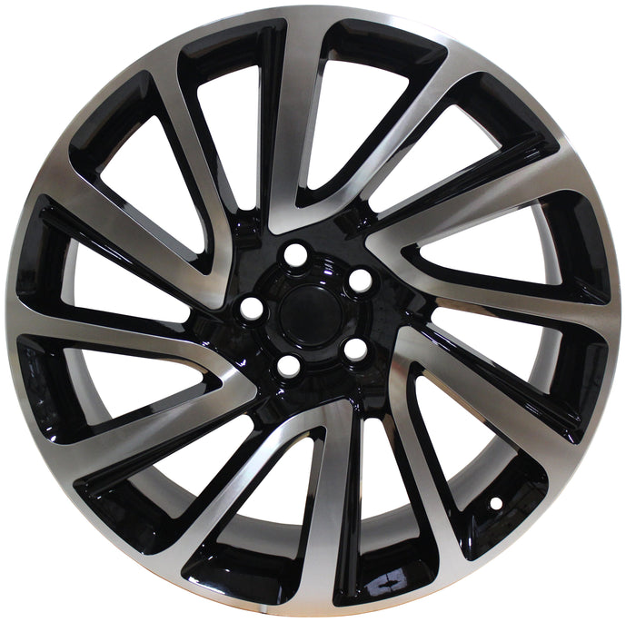 22 Inch Rims Range Rover Sport SVR LR3 LR4 & HSE Autobiography Wheels Black Machined