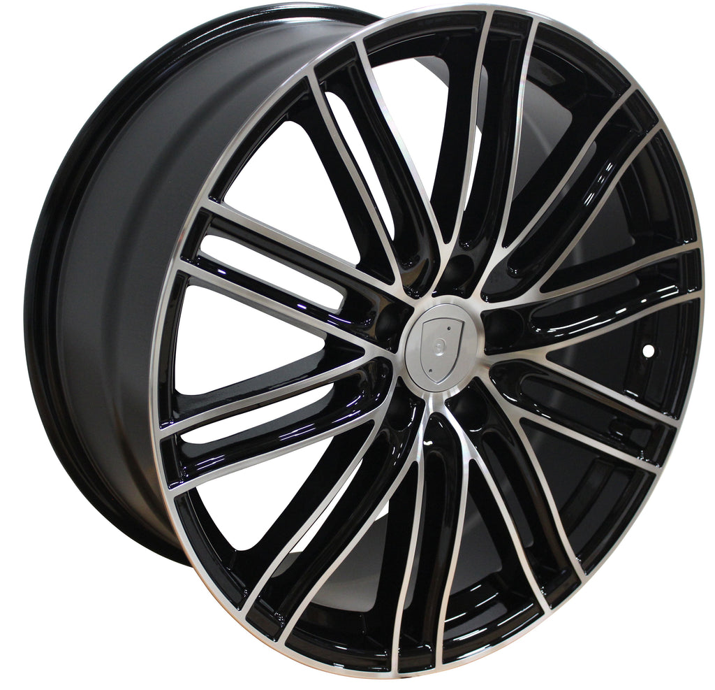 22 Inch Rims Fit Porsche Cayenne Panamera Turbo S GTS Base Machined Black 2020 Wheels