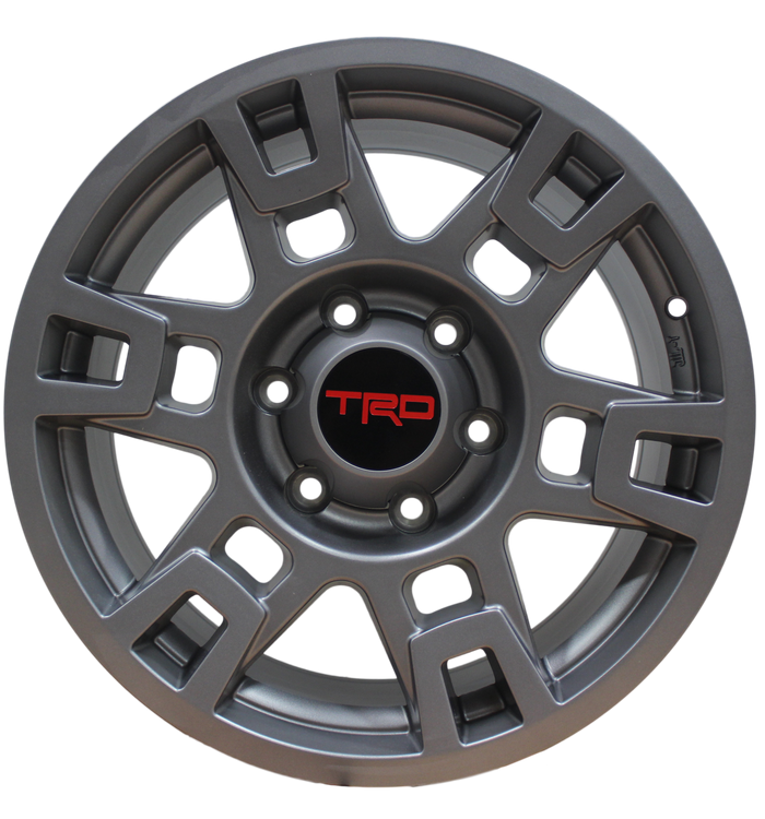 17 Inch Toyota TRD PRO Style Rims Fit 4Runner FJ Cruiser Tacoma SEMA Gunmetal Wheels - Elite Custom Rims
