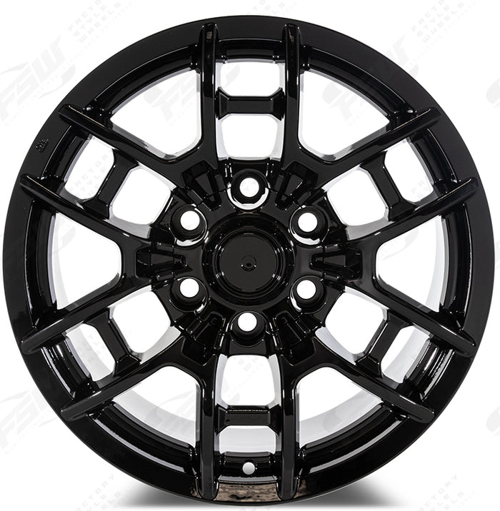 17 Inch Toyota TRD PRO Style Gloss Black Rims Fits 4Runner FJ Cruiser Tacoma Style Wheels