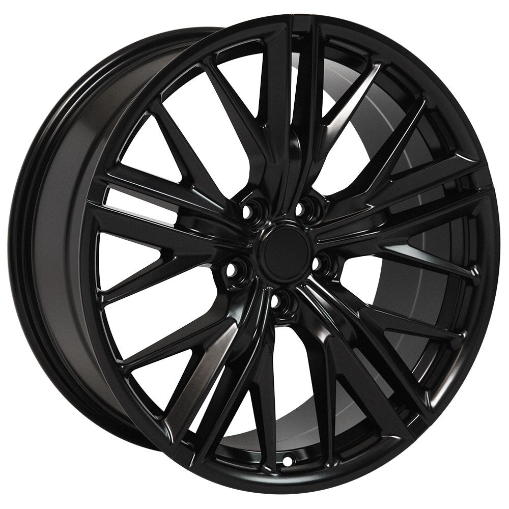 20 INCH CHEVY CAMARO ZL1 SS RS Z28 LT RIMS STAGGERED BLACK WHEELS
