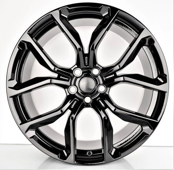 22 Inch Rims fit Range Rover Sport SVR HSE Full Size SVR Style Gloss Black Wheels