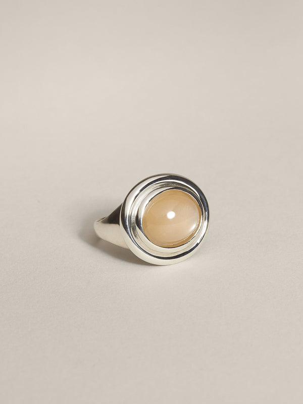 Duet Cocktail Ring (Peach Moonstone)