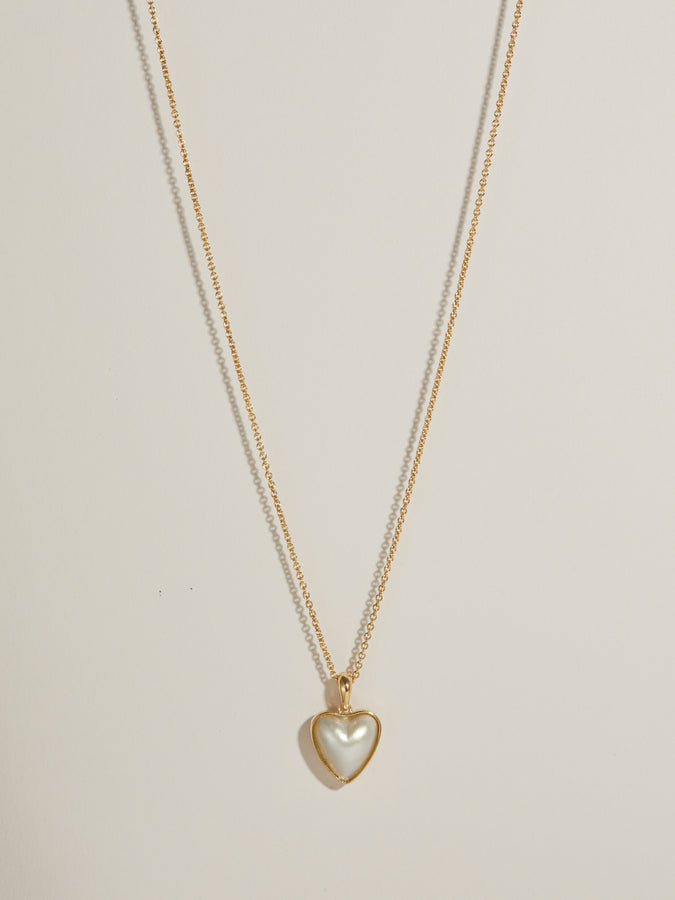 J. Hannah Mabe Heart Pendant Necklace 14k Gold