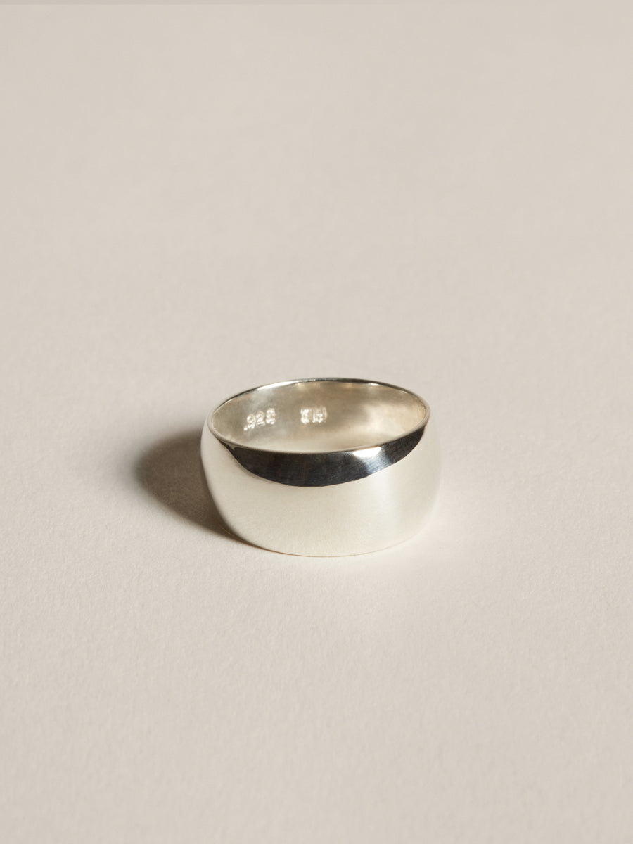 J. Hannah Classic Silver Cigar Band Ring