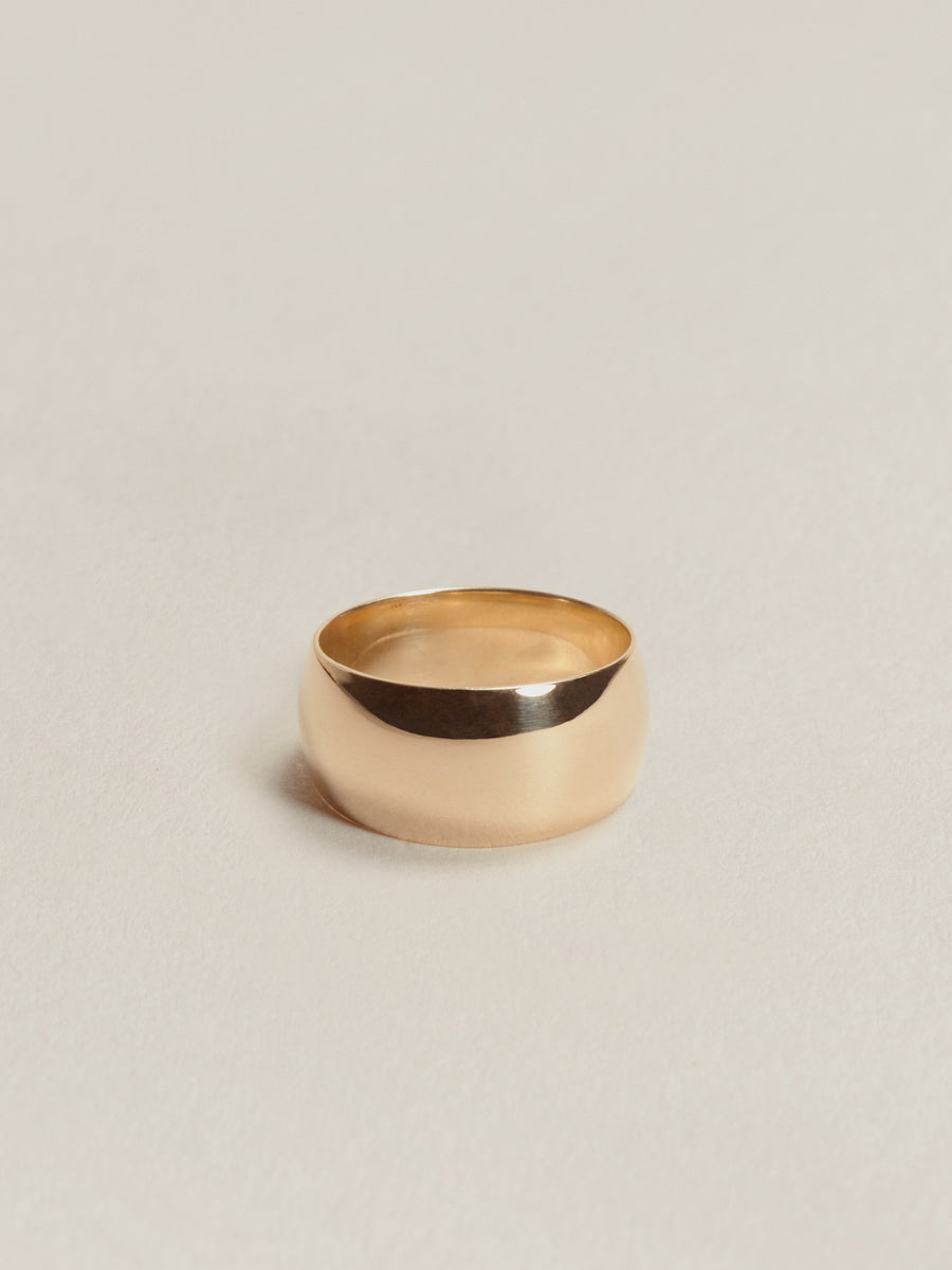 J. Hannah Classic 14k Gold Cigar Band Ring