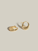 J. Hannah Strata Hoops I silver earrings