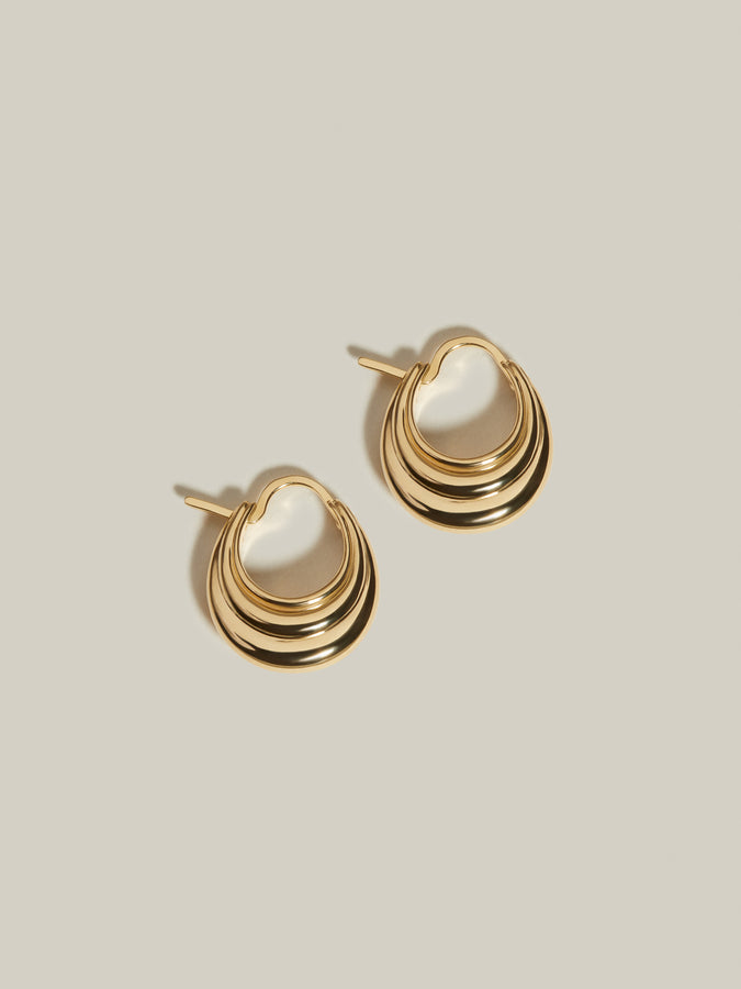J. Hannah Strata Hoops I 14k Gold earrings