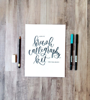 Brush Calligraphy Kit, Beginner Brush Calligraphy Starter Kit