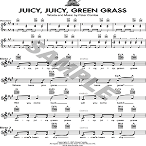 Juicy Juicy Green Grass - PDF