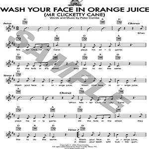 Wash your face in orange juice (Mr Clicketty Cane) - PDF