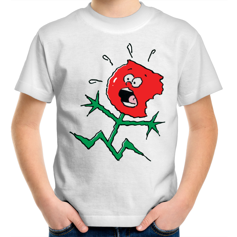 TOFFEE APPLE on WHITE - Kids T-Shirt