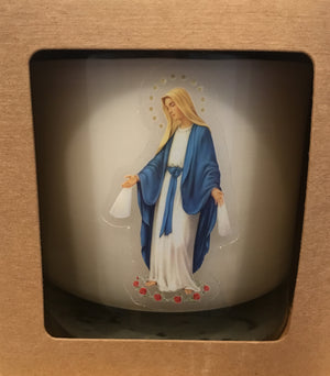Our Lady of the Miraculous Medal Candle