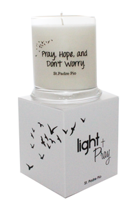 St. Padre Pio All Natural Handmade Soy Prayer Candle