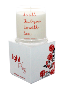 St. Theresa Liseaux All Natural Handmade Soy Prayer Candle