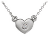 Tiny Heart Birthstone Necklace