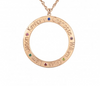 Circle Name Necklace with Birthstones