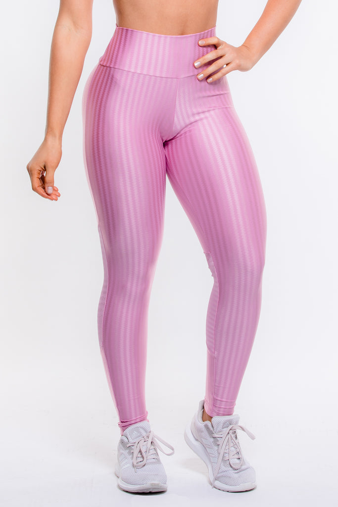 Pink Striped Hi-Rise Legging